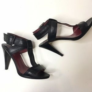 Max Studio  Leather Ankle strap High Heel Sandals